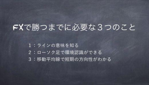 【FX教材なんて買わなくて良い】FXで勝つまでに必要な3つのこと